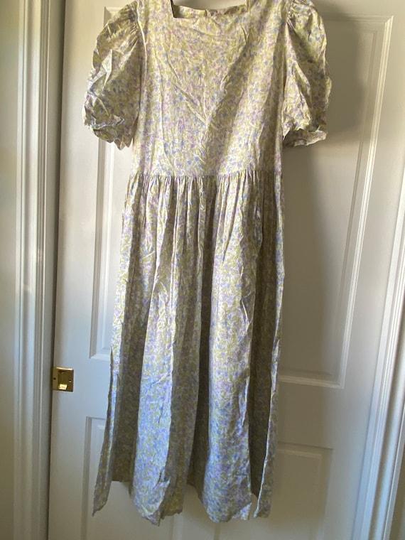 Laura Ashley Vintage Dress with Puff Sleeves - Siz