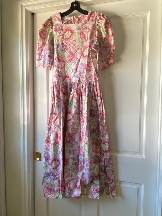 Laura Ashley Vintage Floral Dress - Size 12 (USA)