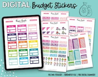 Budget Digital Stickers | Finance Digital Stickers | Goodnotes Stickers | Digital Planner Stickers | Money Stickers | Budgeting Stickers