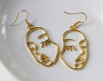 women/'s earrings-pate polymer shells Picasso.......