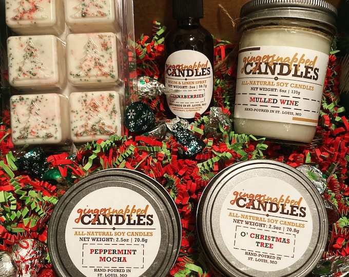 Featured listing image: HOLIDAY GIFT BOX | Christmas Gift Box | Self Care Kit | Candle Gift Set