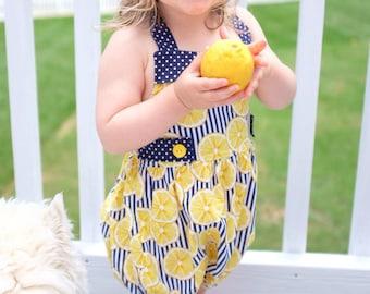 Custom Ginger Baby or Toddler Bubble Romper, Handmade Bubble Romper, Custom Girl's Romper, Custom Toddler Romper, Retro bubble romper