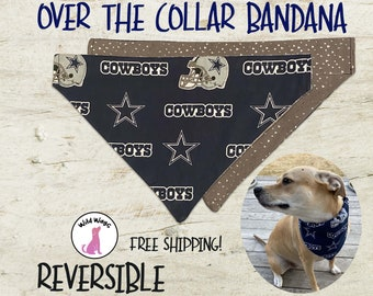 Personalized dog scarf teacher gift football gift for the Cowboy fan football Cowboys bandana Dog bandana Dallas Cowboys Dog Gift