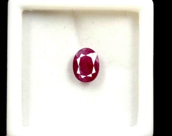 1813 8mm 1x Ruby-oval con facetas 3,8x4