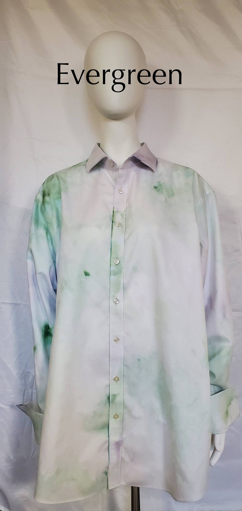 Tunic Oversized Ice Dye Tie Dye Shirt Dress Unisex Dress Shirt