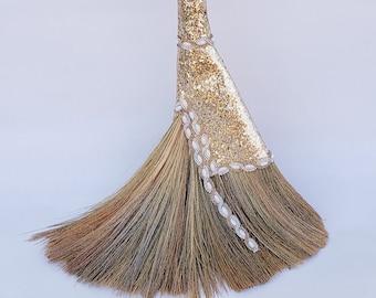 Golden Lady Wedding Broom