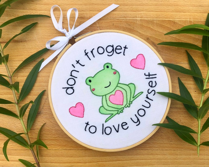 I\u2019m Gross 6 inch embroidery; Opossum hand embroidered Love Me