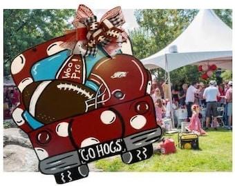 Razorback Game Day Truck/Arkansas Game Day Truck/Arkansas Door Hanger/porch sitter