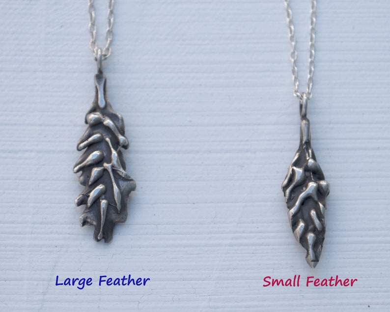 symbol of freedom and honor. Handmade feather pendants with chain