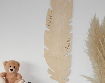 Measuring bar pen for children made of wood, Personalized bar, measuring bar, nursery decoration