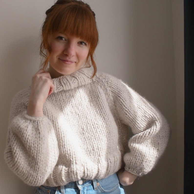 Knitting Pattern: Sable Sweater Chunky Knit Lightweight image 0