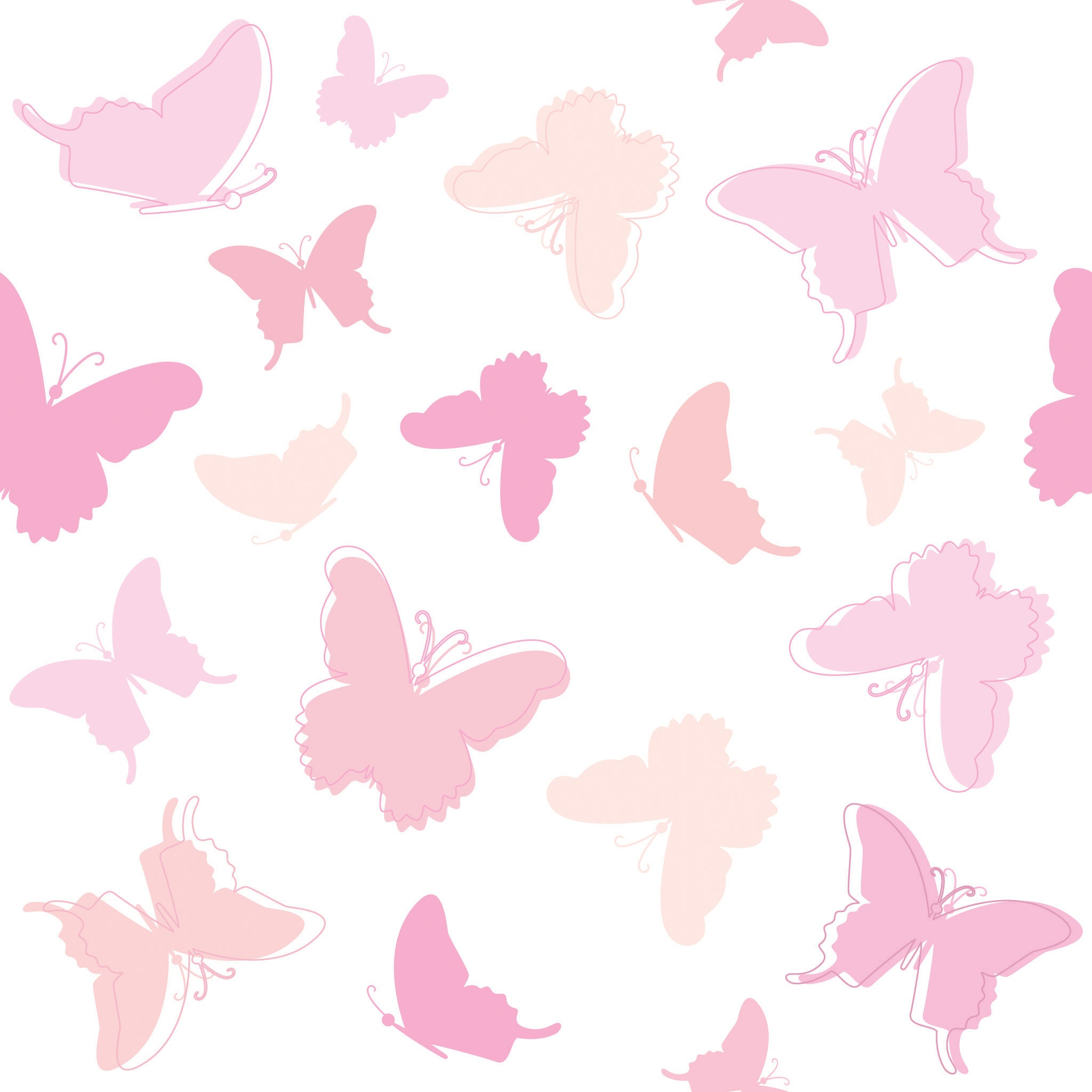 Gedruckte Bettwäsche Schmetterlinge B39   Bettwäsche mit