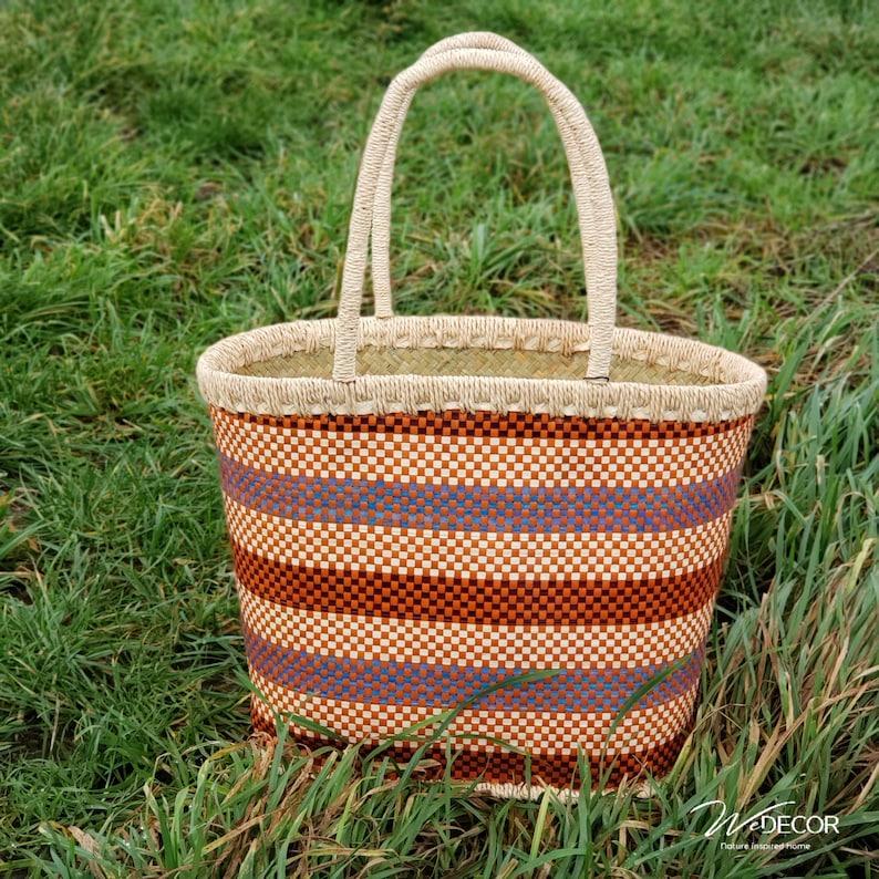 Handbag Egmond handmade from palmleaf image 0