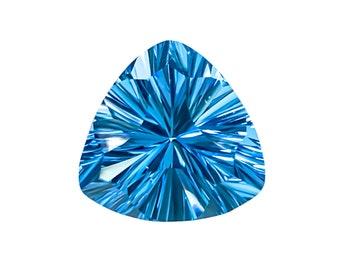 31.95 Ct Natural Brazil Mystic Topaz Trillion Cut Loose Gemstone