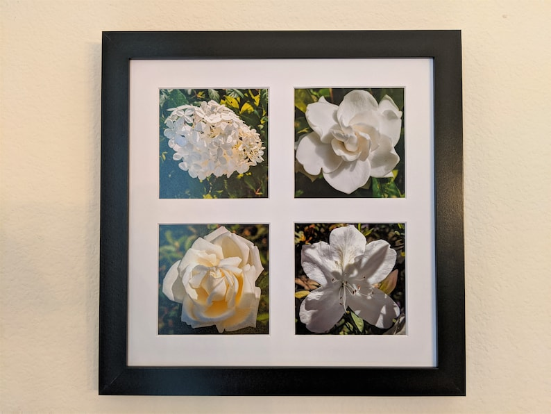 White Flowers Photo Tetraptych image 0