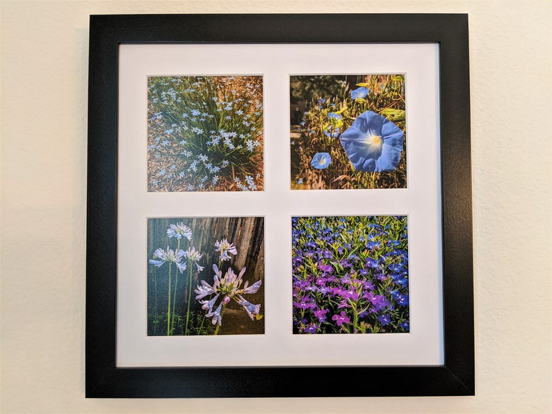 Blue-Purple Flowers Photo Tetraptych image 0