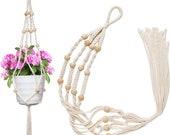 Macrame Plant Holder for Hanging Indoor Plants. Great Gift