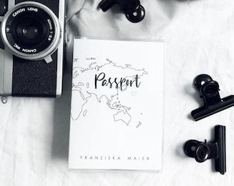 REISEPASS HÜLLE WORLD CARD (new passport)