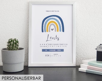BIRTH POSTER RAINBOW - COLOR SELECTION