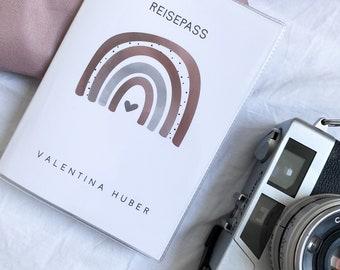 REISEPASSHÜLLE REGENBOGEN (old passport)