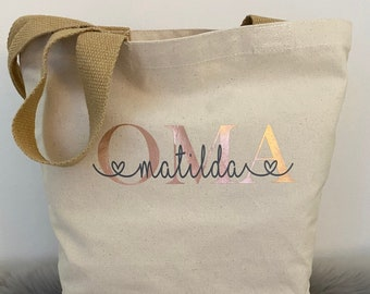 Shopper bag MRS. MOM OMA with name personalized in desired design