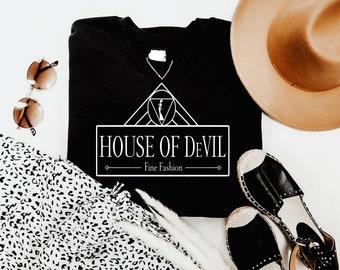House of DeVIL Shirt  Disney Shirts  Cruella Shirt  Disney Shirt for Men  Disney Shirts for Women  Magic Kingdom Shirt