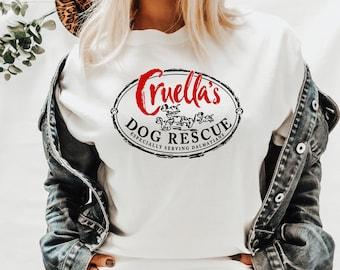 Cruella's Dog Rescue Shirt  Disney Shirts   Disney Shirts for Women  Magic Kingdom Shirt  Unisex Fit