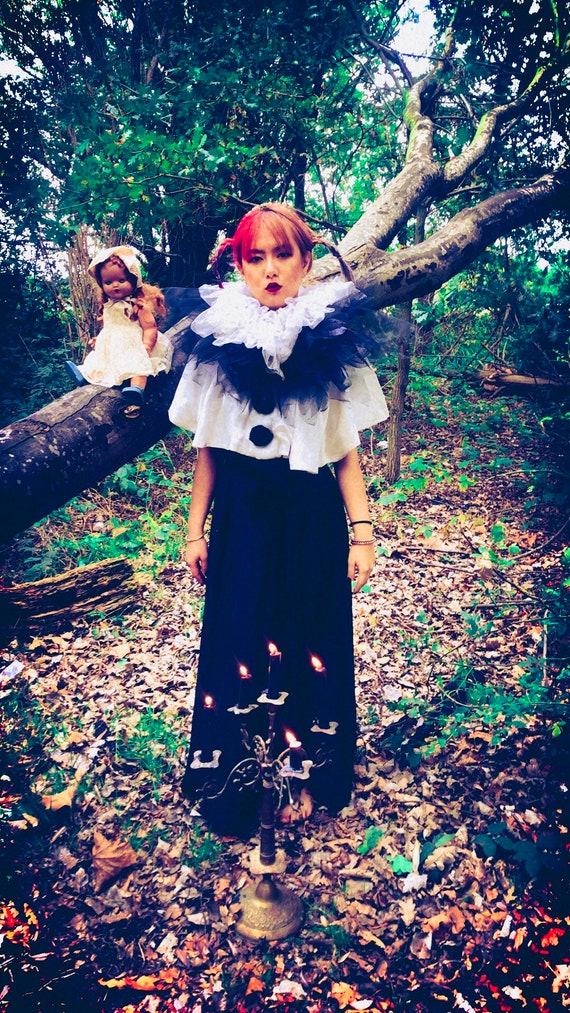 Vintage bespoke Pierrot costume shrug