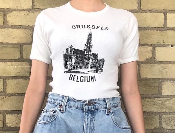 Vintage 90s Brussels Belgium Graphic Shirt
