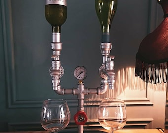 Handcrafted Industrial Drink / Liquor Dispenser, Free standing or wall mounted Optics for homes, bars and restaurants