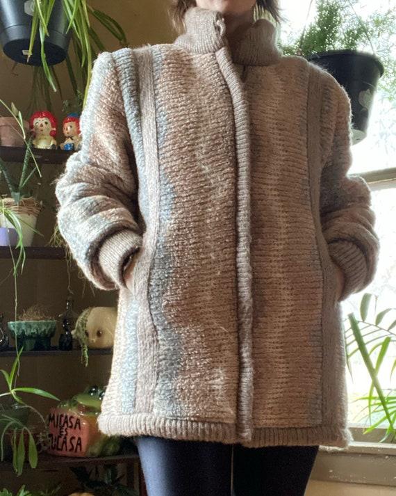 80s Dreamy Dusty Rose Cozy Coat