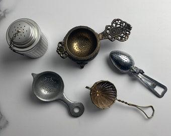 Tea Strainers / Tea Steeper / Tea ball / Vintage kitchen tools / Vintage kitchen utensils / Food Photography Props / Utensils / Food Styling
