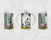 Straight Sippy Cup Sublimation Woodland Creatures Design Digital Download PNG Inst DIGITAL Only rts tumblers Tamara