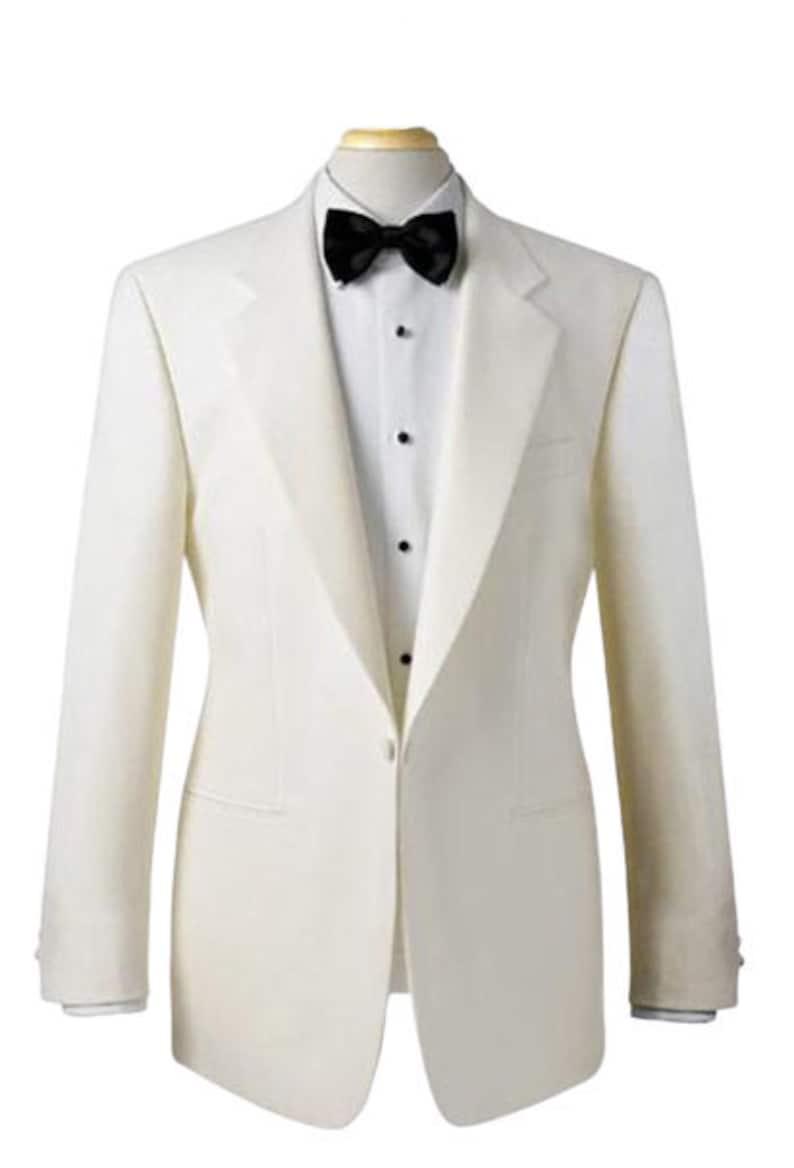 1930s Tuxedos and Eveningwear Men Tuxedo Jacket White Slim Fit One Button Christmas Dinner Party Wear Blazer $138.50 AT vintagedancer.com