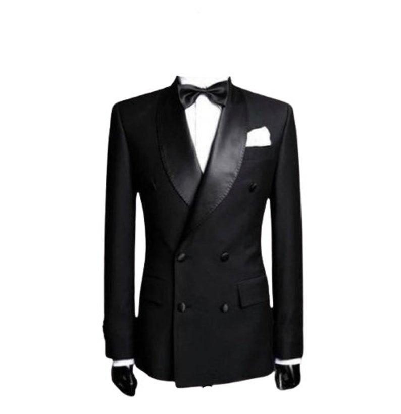1920s Men's Evening Wear History: Tuxedos to Tailcoats Men Tuxedo Jacket Men Double Breasted Coat Men Black Tuxedo Blazer Party Wear Dinner Coat $139.00 AT vintagedancer.com