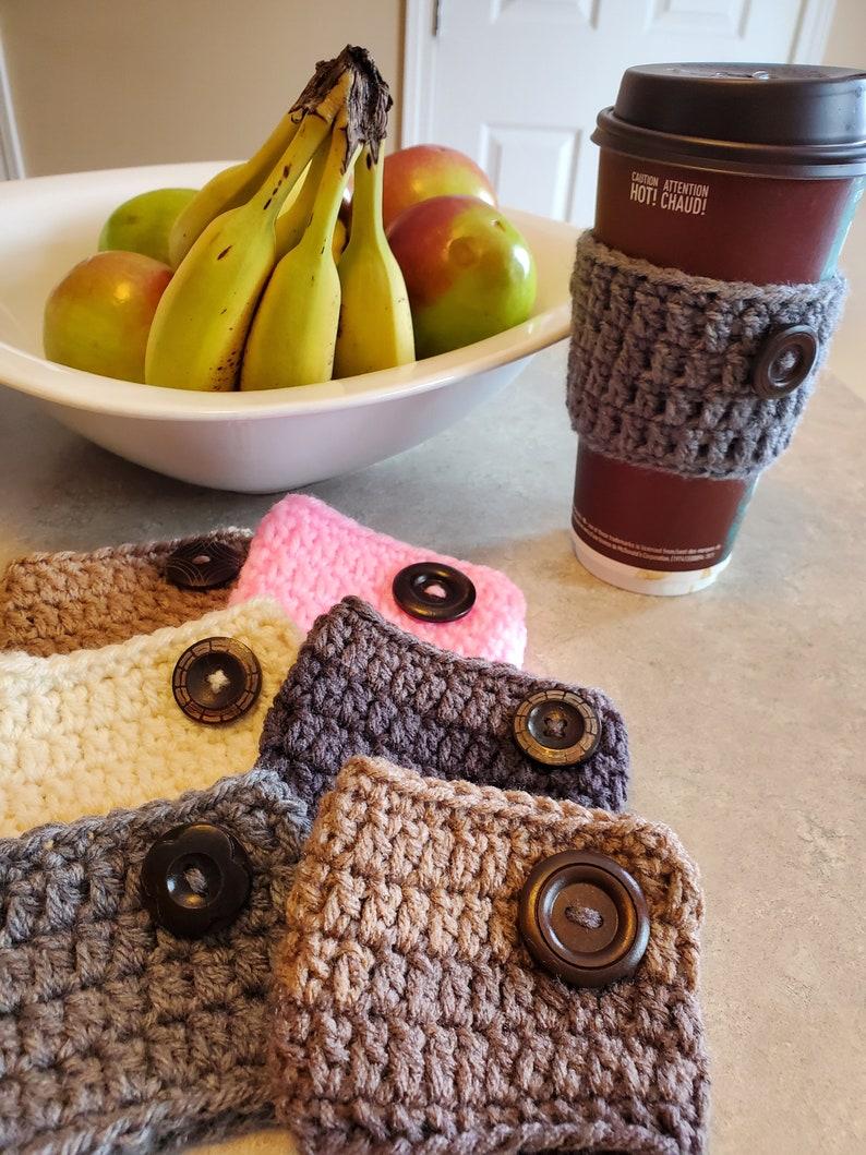 Simple Crochet Coffee/Tea Cup Cozy Pattern Beginner/Easy  image 0