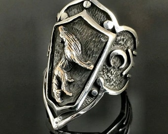 Kayi Tribe Design Sterling Silver 925 Ring Turkish Hamdmade Men Women \u0130slamic Turks Sign Kay\u0131 Boyu
