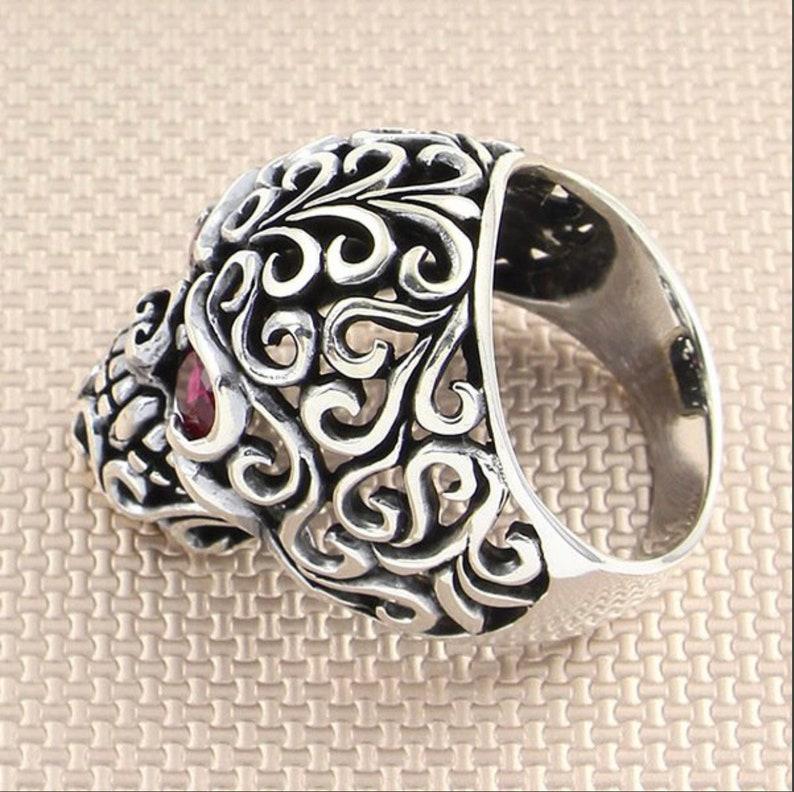 Gift For Men Skeleton Ring Skeleton Silver Jewelry Silver Ring Gift For Women 925 Sterling Silver Men Ring