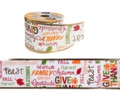 Give Thanks Crafter 39 s Square Harvest Wire-Edge Ribbon, 2.5 39 x 9 ft. Roll
