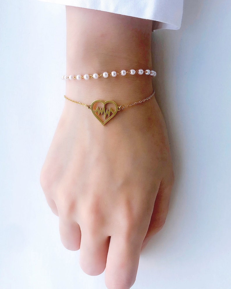 Pearl Heart Beat Bracelet