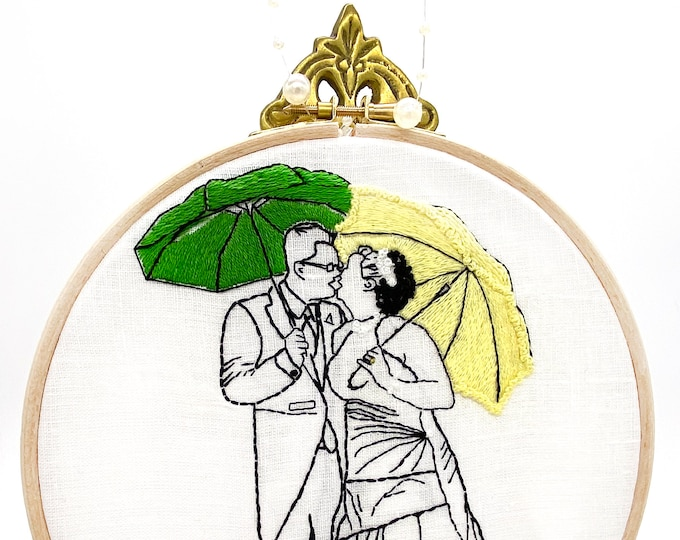 MADE TO ORDER - Wedding Portrait - Hand-Embroidery