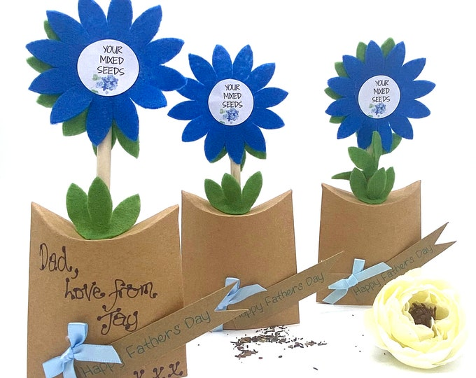Fathers Day - 3D Gift with seeds for sowing