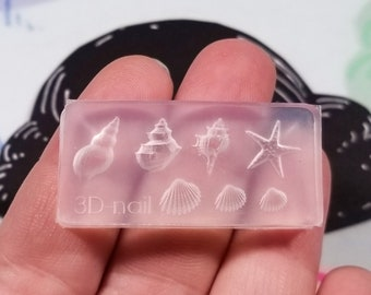 Sea Shell Epoxy Mold for Resin Crafts DIY Resin Jewelry Box Molds Silicone Resin Moulds OOTSR Resin Mold Seashell Casting Resin Mold