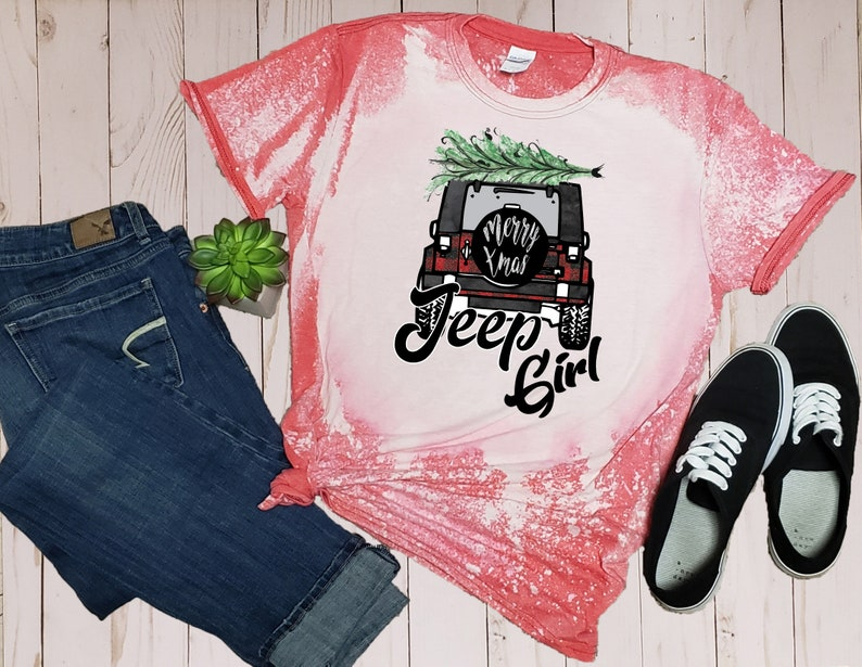 Jeep Girl Bleached Shirt