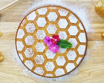 Honeycomb Cake Stencil, Cake Stencil, Honeycomb Stencil, Spring Baking, Mother's Day Gift, Honey Gift, Baker Gift, Baking Gift, Bake Gift