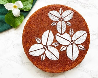 Trillium Cake Stencil, Trillium, Spring Cake Stencil, Spring Flowers Stencil, Gardening Gift, Cake Stencil, Mother's Day Gift