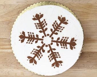 Scandinavian Snowflake Cake Stencil, Nordic Snowflake Cake Stencil, Snowflake Cake Stencil, gift for baker, baking gift, Cake Stencil