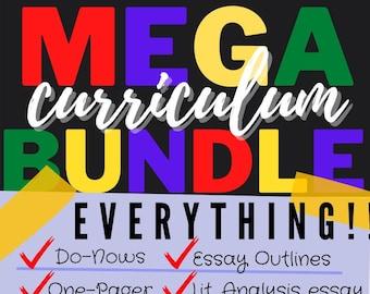 Mega Curriculum Bundle for Middle or High School