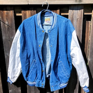 Quilted Denim Bomber  jacket Women/'s  Large @ SelenaBoutique NEW!
