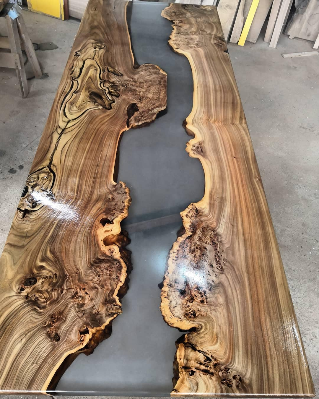 Live Edge Dining Table Tableresin, Live Edge Dining Room Table
